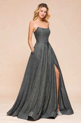 Schlichte Abendkleider Lang Glitzer | Festliches Kleid_8