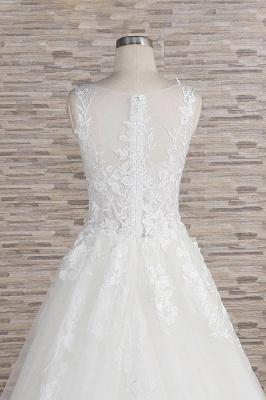 Modern Hochzeitskleider Mit Spitze | Brautkleid A Linie_7