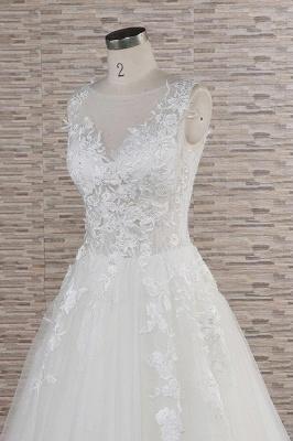 Modern Hochzeitskleider Mit Spitze | Brautkleid A Linie_6