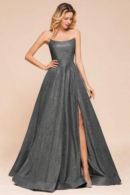 Schlichte Abendkleider Lang Glitzer | Festliches Kleid_3