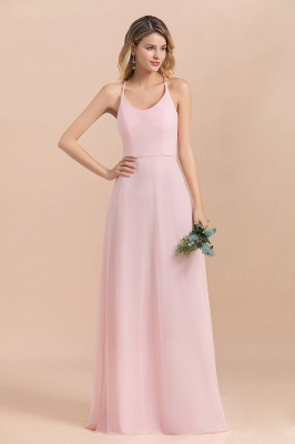 Schicke Brautjungfernkleider Lang Rosa | Chiffon Kleider_9