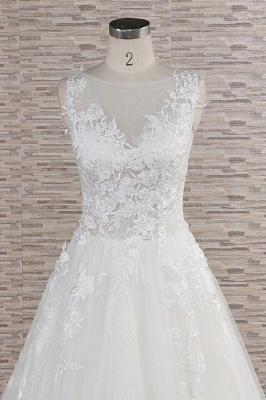 Modern Hochzeitskleider Mit Spitze | Brautkleid A Linie_5