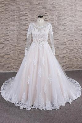 Designer Brautkleid A Linie | Hochzeitskleid mit Ärmel_1