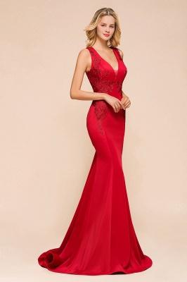 Abendkleid Rot Lang Günstig | Schlichte Abendmoden Abiballkleider_7