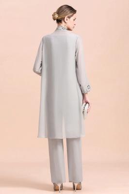 Silber Brautmutterkleider mit Bolero | Jumpsuit Brautmutter Hochzeit_3