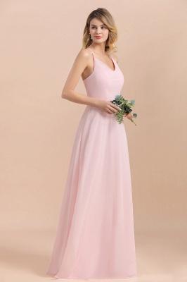 Schicke Brautjungfernkleider Lang Rosa | Chiffon Kleider_5