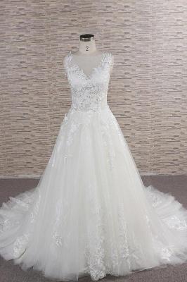 Modern Hochzeitskleider Mit Spitze | Brautkleid A Linie_1