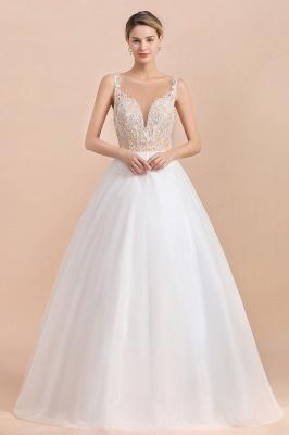 Schlichte Hochzeitskleider A Linie | Brautkleid Umstandsmode_1