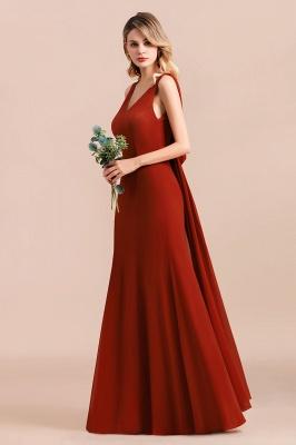 Brautjungfernkleider Lang Rot | Hochzeitspartykleider Günstig_5
