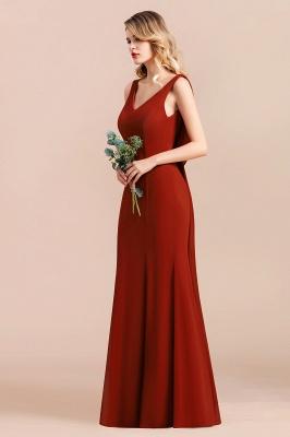 Brautjungfernkleider Lang Rot | Hochzeitspartykleider Günstig_7