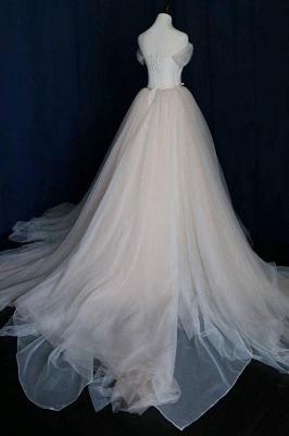 Schlichte Brautkleid Tüll | Hochzeitskleid  A Linie Online_3