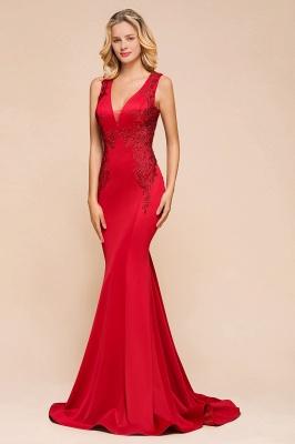 Abendkleid Rot Lang Günstig | Schlichte Abendmoden Abiballkleider_9