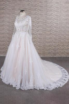 Designer Brautkleid A Linie | Hochzeitskleid mit Ärmel_4