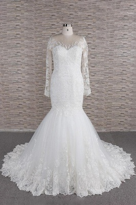 Elegante Hochzeitskleider Meerjungfrau   Brautkleider Spitze Online_1