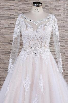 Designer Brautkleid A Linie | Hochzeitskleid mit Ärmel_5