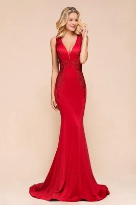 Abendkleid Rot Lang Günstig | Schlichte Abendmoden Abiballkleider_5