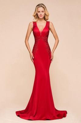 Abendkleid Rot Lang Günstig | Schlichte Abendmoden Abiballkleider_1