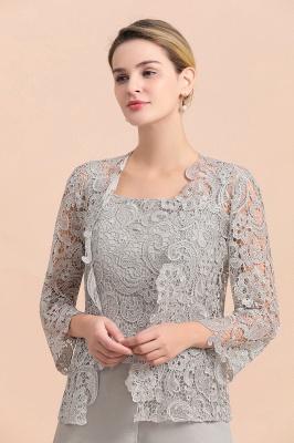 Silber Brautmutterkleid mit Jacket | 3 Teilige Brautmutterkleider_7