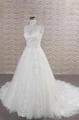 Modern Hochzeitskleider Mit Spitze | Brautkleid A Linie_4