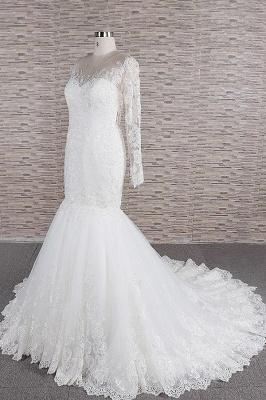 Elegante Hochzeitskleider Meerjungfrau   Brautkleider Spitze Online_4
