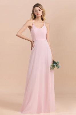 Schicke Brautjungfernkleider Lang Rosa | Chiffon Kleider_7