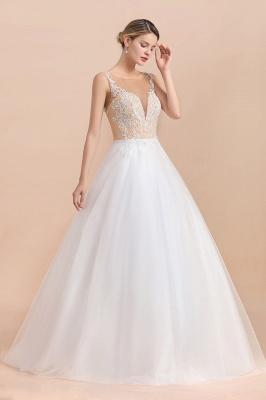 Schlichte Hochzeitskleider A Linie | Brautkleid Umstandsmode_5