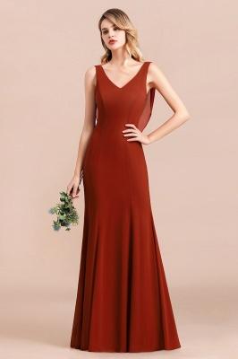 Brautjungfernkleider Lang Rot | Hochzeitspartykleider Günstig_1