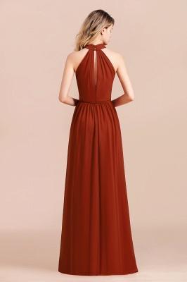 Schöne Rote Brautjungfernkleider Lang | Chiffon Kleider Günstig_3