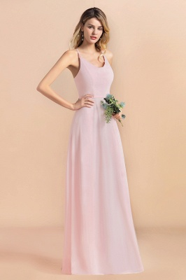 Schicke Brautjungfernkleider Lang Rosa | Chiffon Kleider_6