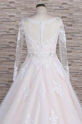 Designer Brautkleid A Linie | Hochzeitskleid mit Ärmel_7