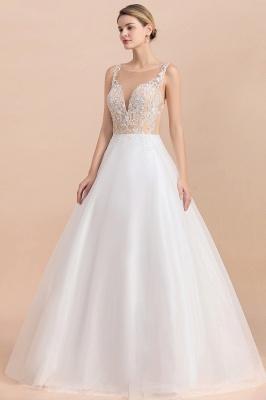 Schlichte Hochzeitskleider A Linie | Brautkleid Umstandsmode_8