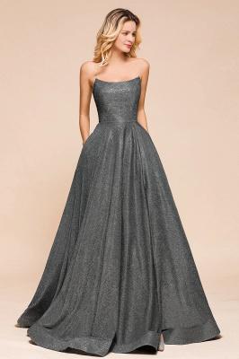 Schlichte Abendkleider Lang Glitzer | Festliches Kleid_5
