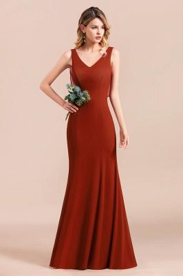 Brautjungfernkleider Lang Rot | Hochzeitspartykleider Günstig_4