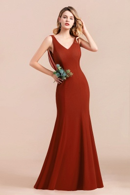 Brautjungfernkleider Lang Rot | Hochzeitspartykleider Günstig_6