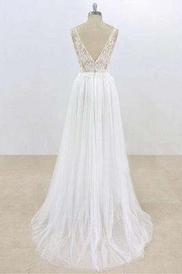 Schlichte Brautkleider Mit Spitze | Hochzeitskleider Günstig Online_3