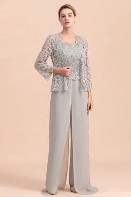 Silber Brautmutterkleid mit Jacket | 3 Teilige Brautmutterkleider_4