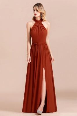Schöne Rote Brautjungfernkleider Lang | Chiffon Kleider Günstig_6