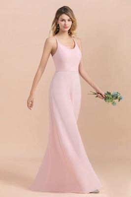 Schicke Brautjungfernkleider Lang Rosa | Chiffon Kleider_8