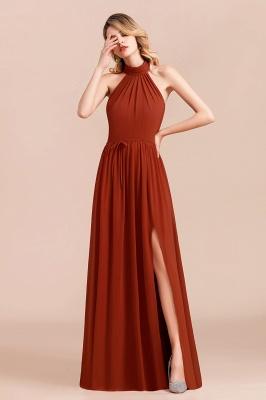 Schöne Rote Brautjungfernkleider Lang | Chiffon Kleider Günstig_5