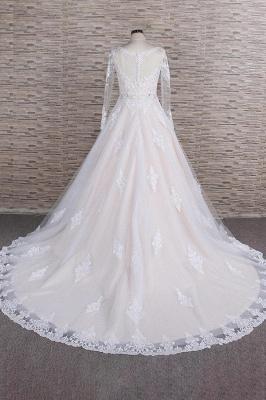 Designer Brautkleid A Linie | Hochzeitskleid mit Ärmel_3