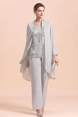 Silber Brautmutterkleider mit Bolero | Jumpsuit Brautmutter Hochzeit_5