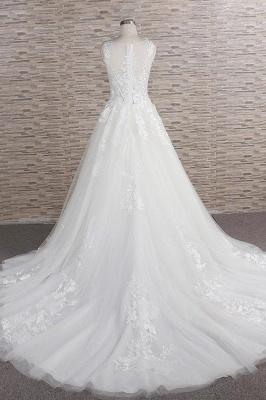 Modern Hochzeitskleider Mit Spitze | Brautkleid A Linie_3