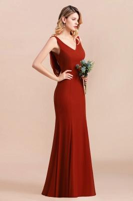 Brautjungfernkleider Lang Rot | Hochzeitspartykleider Günstig_8