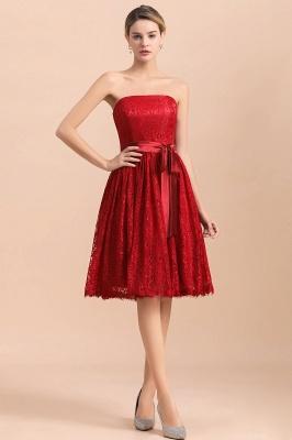 Brautjungfernkleid Kurz Rot | Schöne Brautjungfernkleider Günstig_2