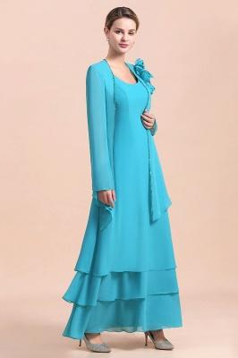 Blaue Brautmutterkleider Mit Jacket   Brautmutter Suit Günstig_4