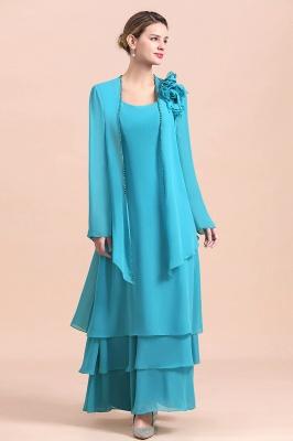 Blaue Brautmutterkleider Mit Jacket   Brautmutter Suit Günstig_5