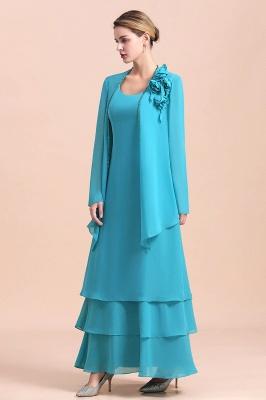 Blaue Brautmutterkleider Mit Jacket   Brautmutter Suit Günstig_6