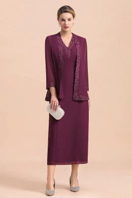 Grape Brautmutterkleider mit Jacket | Chiffon Kleider Brautmutter Suit