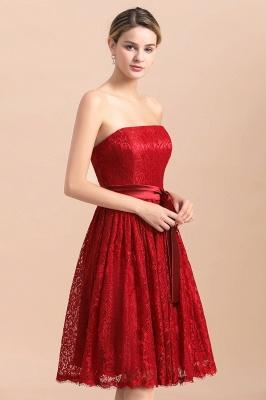 Brautjungfernkleid Kurz Rot | Schöne Brautjungfernkleider Günstig_9