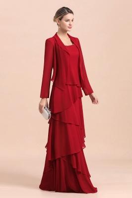 Rote Brautmutterkleider Mit Jacket   Kleider Für Brautmutter_6